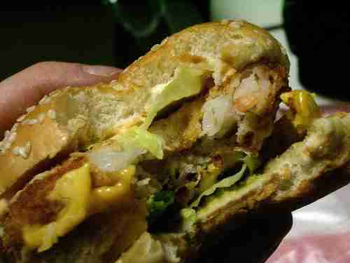 2514580023 ac73dabc731 Vintage Post: Lotteria's Avocado, Shrimp and Cheese Burger