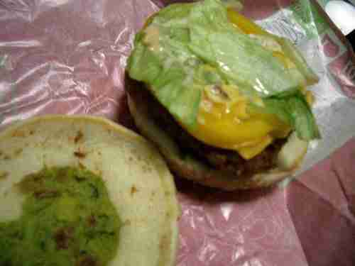 2515404514 4a98b55c601 Vintage Post: Lotteria's Avocado, Shrimp and Cheese Burger