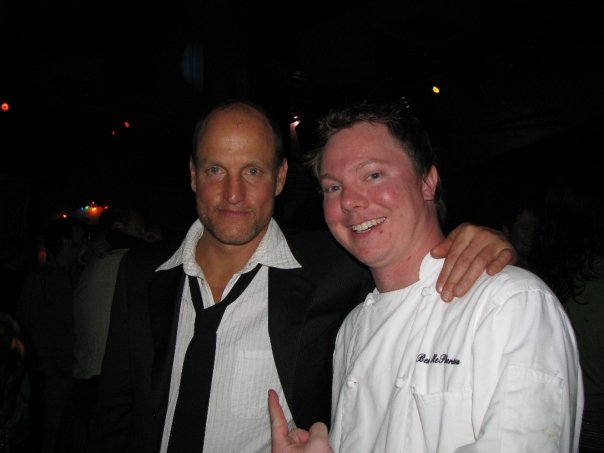 Chef Ben with Woody Harrelson