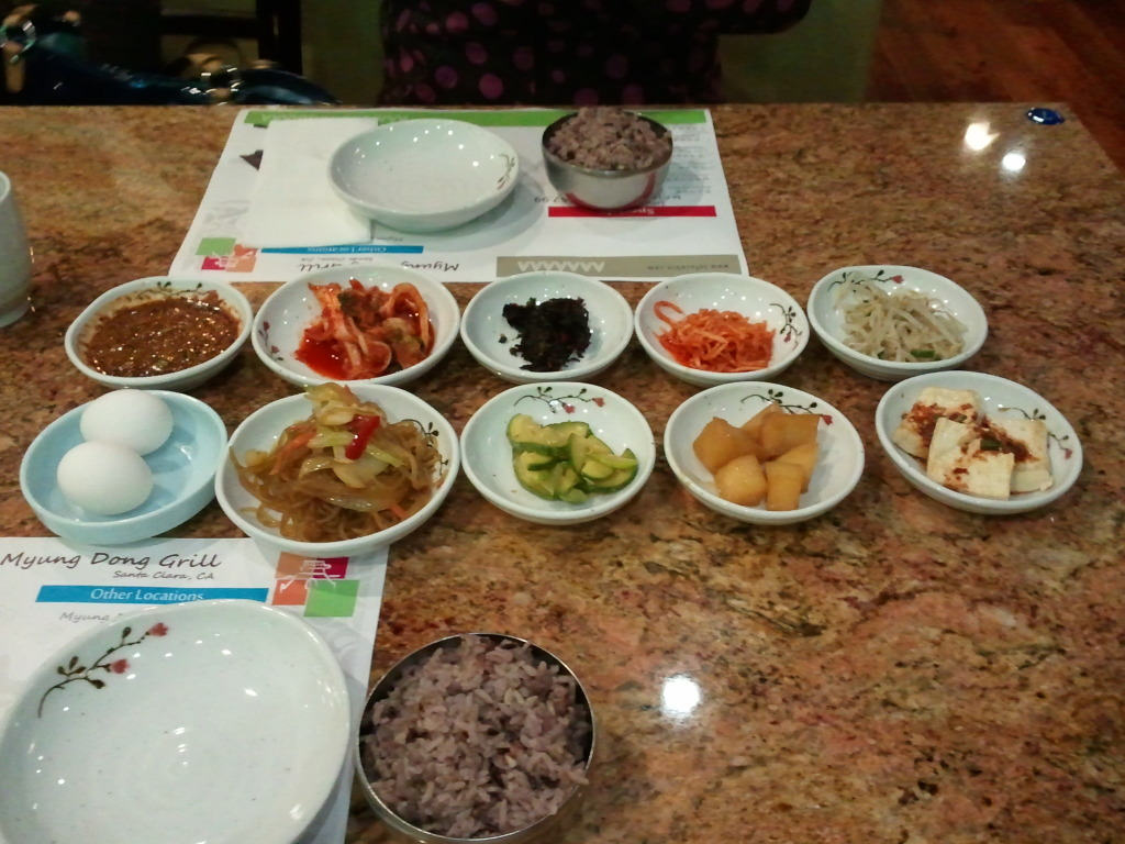 Banchan from Myungdong Grill