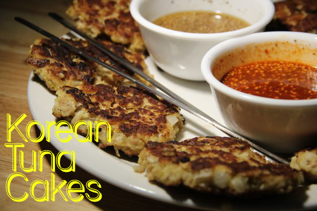 Tunacakeswithdippingsauces31 Recipe: Chamchi Jeon (Korean tuna cakes)