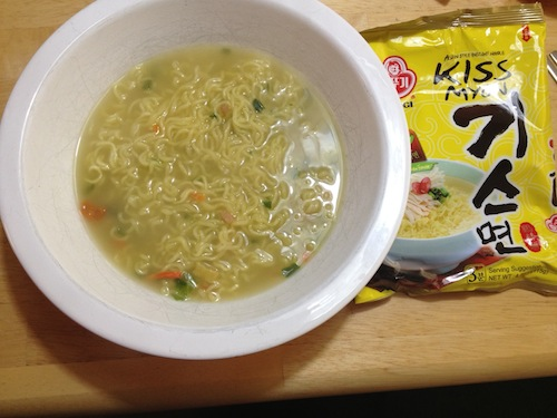 finishedbowl2 Review: Something's fishy with Kiss myun Spicy Chicken Ramyeon