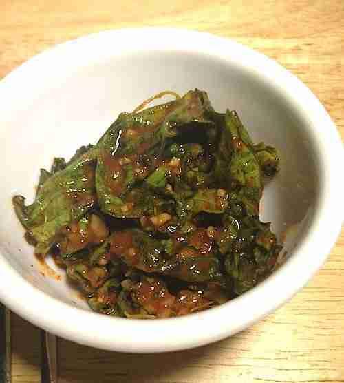 kale kimchi banchan