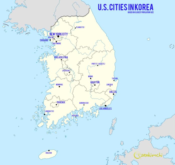 Korea-US Map