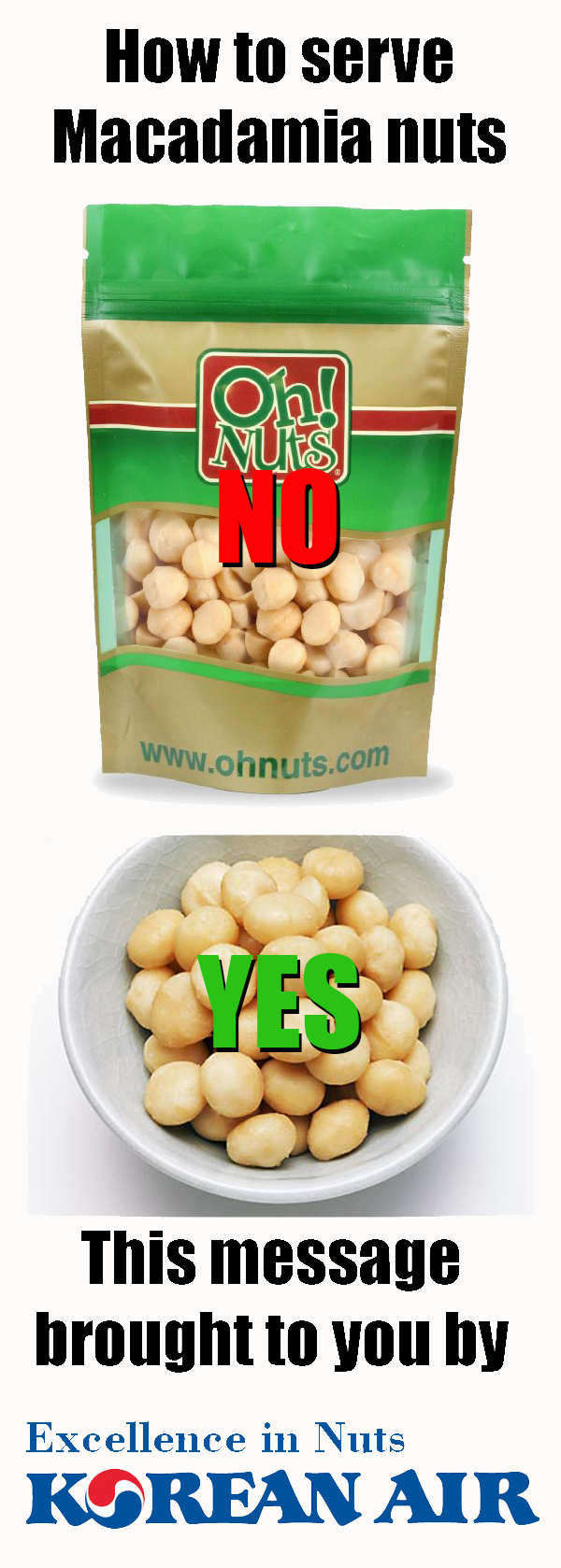 Nuts How to Serve Macadamia Nuts (the Korean Air Way)