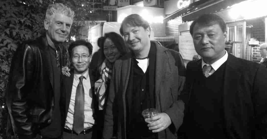 """Taking a break during shooting of """"Parts Unknown"""" in Seoul"""